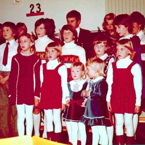 Bild 22: Kinderchor im Advent 1975